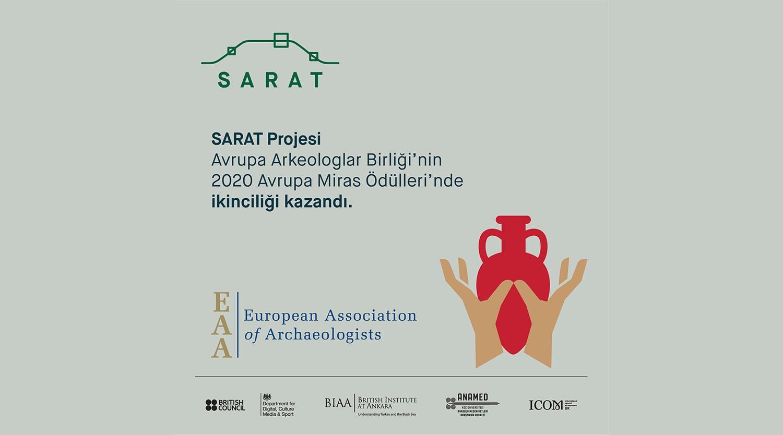 İkinci uluslararası ödülümüz: SARAT Projesi Avrupa Miras Ödülleri'nde ikinci seçildi